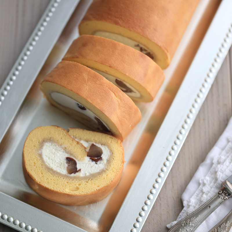 人気のロールケーキの画像
