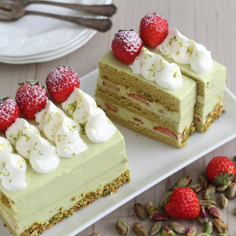 ピスタチオのいちごショートケーキの画像