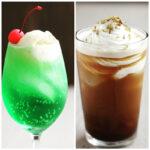 メロンソーダとコーヒーフロート