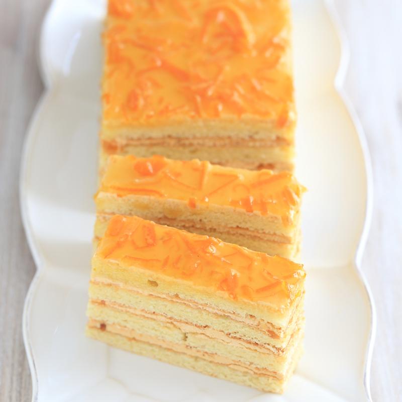 オレンジキャラメルケーキの画像