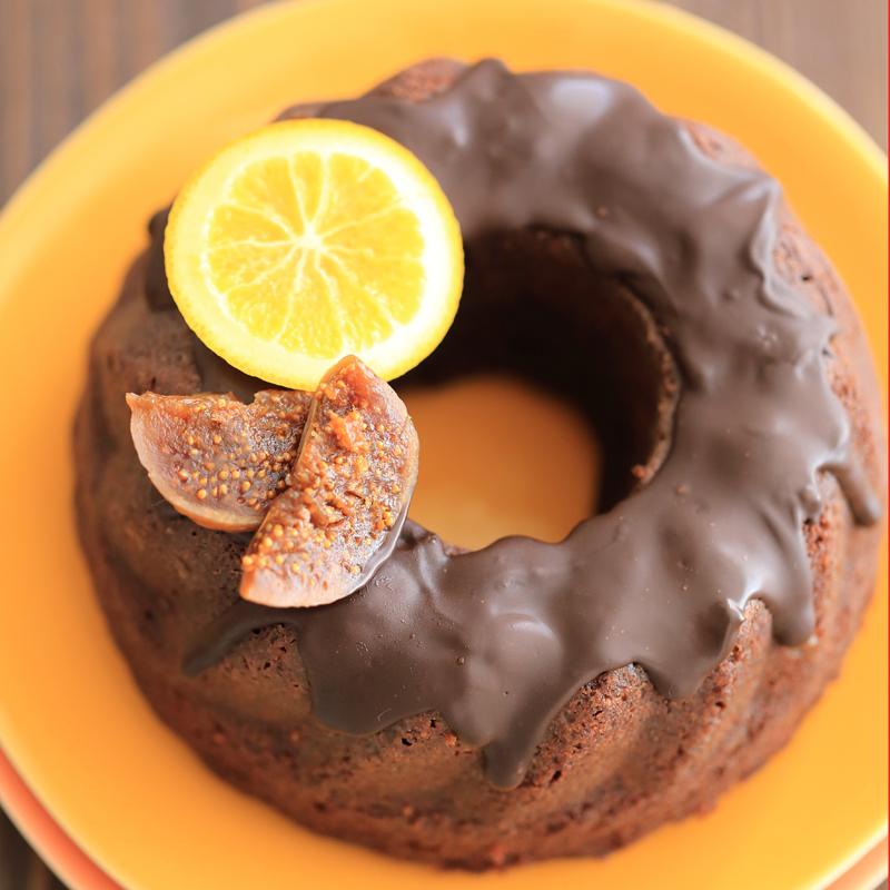 <オンラインレッスン>いちじくとオレンジのチョコケーキの画像