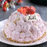 クリスマスケーキ ストロベリーフラワードーム